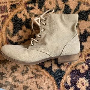 Tan Canvas Boots